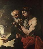 tablou johann carl loth - mercury piping to argus