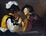 Tablou canvas caravaggio - two musicants