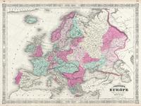 tablou europe, 1864