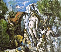 tablou paul cezanne - the temptation of st. anthony