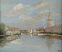 tablou marcel dyf - canal of rhone near the ramparts