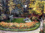 Tablou canvas claude monet   in the garden, 1875
