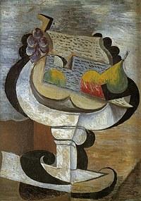 Tablou canvas picasso - compotier, 1917