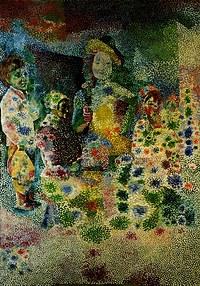 tablou picasso - le nain, 1917