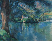 tablou paul cezanne - the lake of annecy, 1896
