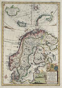 tablou Suedia, Danemarca, Norvegia, 1744