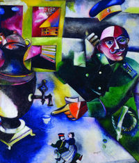 tablou marc chagall - The Soldier Drinks