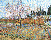 Tablou canvas van gogh - orchard with peach trees in blossom, 1888