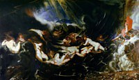 Tablou canvas rubens - hero and leander (1605)