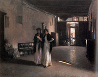 tablou john singer sargent - venetian interior, 1880