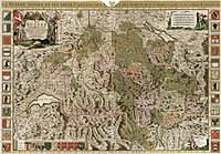 tablou harta veche elvetia, 1693