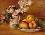 tablou Renoir - apples and flowers, 1895-1896