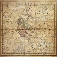 tablou star constellation, astrology map, 1820 (12)