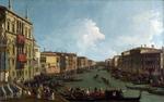 Tablou canaletto - venice -  a regatta on the grand canal