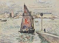 tablou paul signac - port luis, 1922