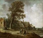 tablou jan van goyen - peasants resting before an inn