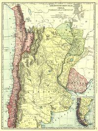 tablou argentina, uruguay, chile, 1898