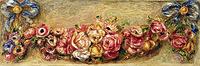 Tablou canvas pierre auguste renoir - garland of roses, 1910