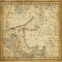 tablou star constellation, astrology map, 1820 (9)
