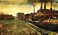 tablou van gogh - iron mill in the hague