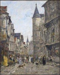tablou Eugene Boudin - saint romain street, rouen, 1895