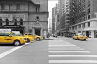 tablou new york, taxi, bicolor (16)