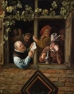 tablou jan steen - rhetoricians at a window