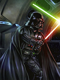 tablou star wars, darth vader vs. luke skywalker - stanga