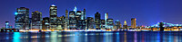 Tablou canvas night in new york (10), panorama