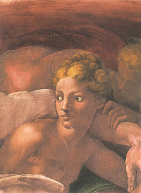 Tablou canvas michelangelo - eve, sistine chapel (detail)