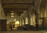 tablou johannes bosboom - the interior of the bakenesserkerk, haarlem
