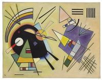 Tablou canvas kandinsky - black and violet