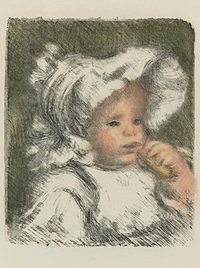 tablou pierre auguste renoir - child with bisquit