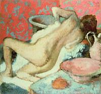 tablou edgar degas - woman wipes, 1896