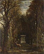 tablou john constable - cenotaph to the memory of sir joshua reynolds