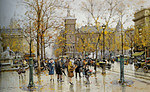 Tablou canvas eugene galien laloue - place de chatalet (3), paris