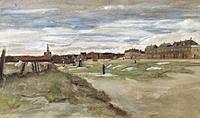 Tablou canvas van gogh - bleaching ground, 1882