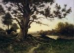 tablou henri joseph harpignies - oak
