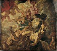 tablou rubens - the fall of the rebel angels