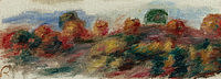 Tablou canvas pierre auguste renoir - landscape, 1910