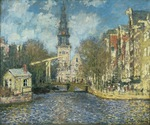 tablou claude monet - zuiderkerk in amsterdam, 1874