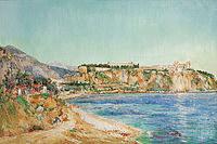 tablou paul place canton - a view of monaco, 1895