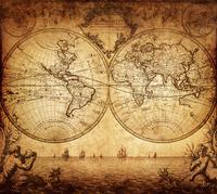 Tablou canvas harta antica (213)