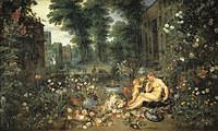 tablou rubens - the sense of smell (together with jan brueghel the elder) (1617)