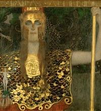 tablou Gustav Klimt - afina pallas (1898)