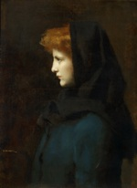 tablou jean jacques henner - head of a girl