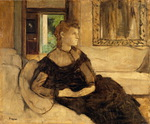 Tablou canvas degas - madam  theodore (1869)