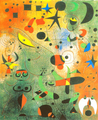 tablou joan miro - constellation; awakening at dawn, 1941