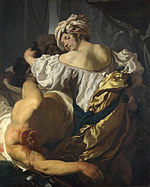 tablou johann liss - judith in the tent of holofernes
