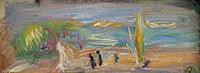 Tablou canvas pierre auguste renoir - seaside landscape